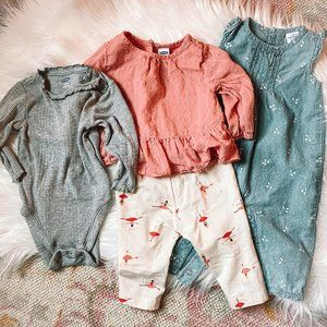 Baby Girl 3-6M Outfits - Old Navy & Carter's
